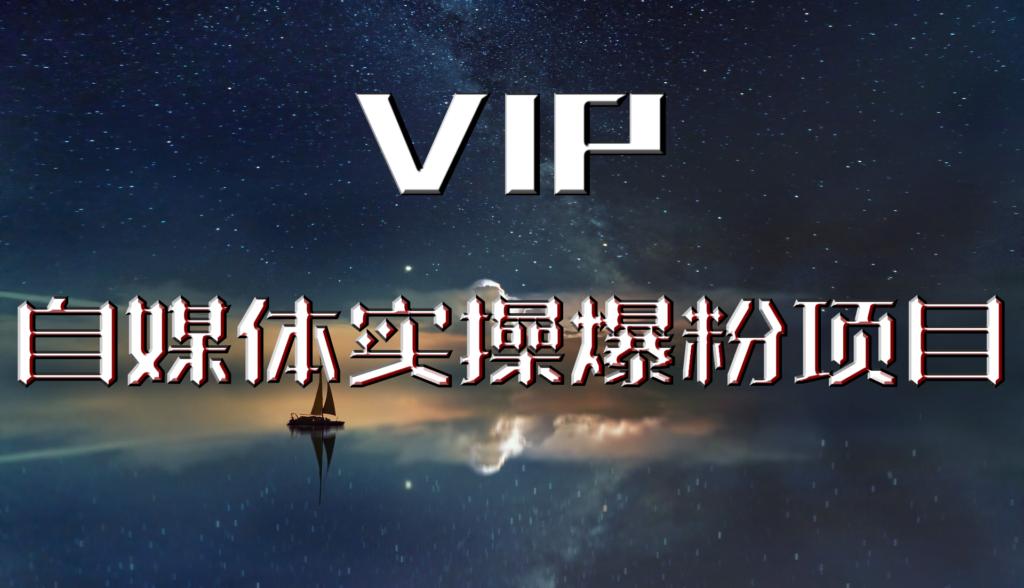 【VIP课程】自媒体实操爆粉项目,月入过万很轻松